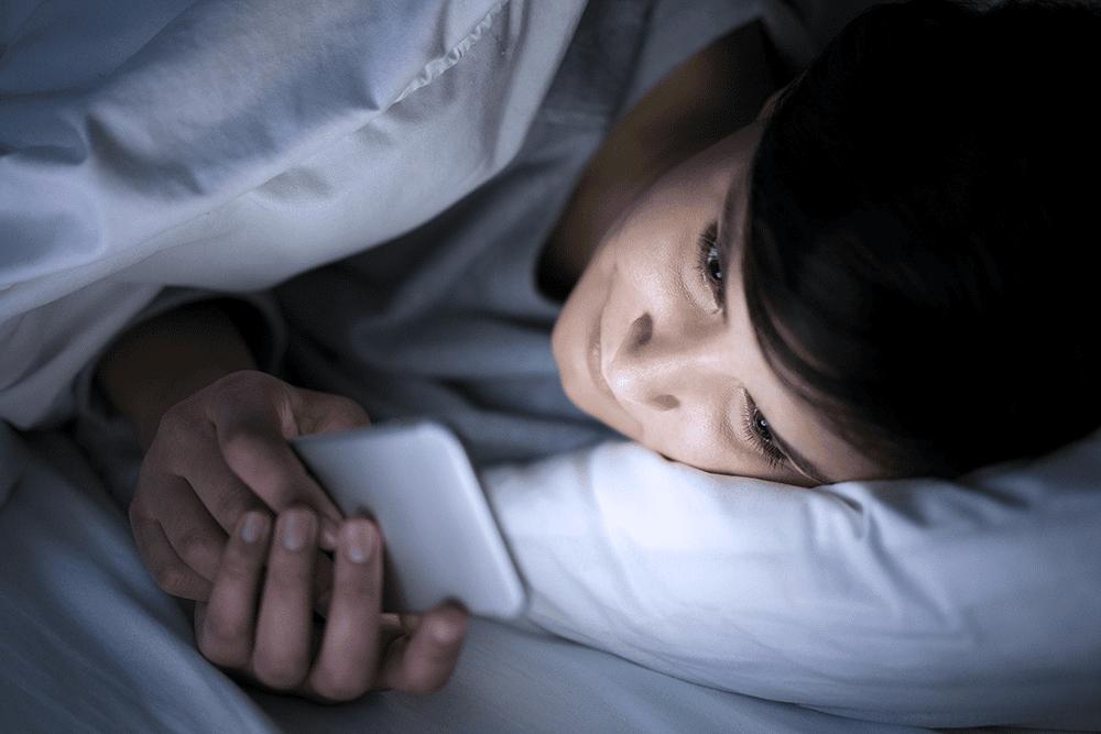 lumière bleue et mauvais sommeil